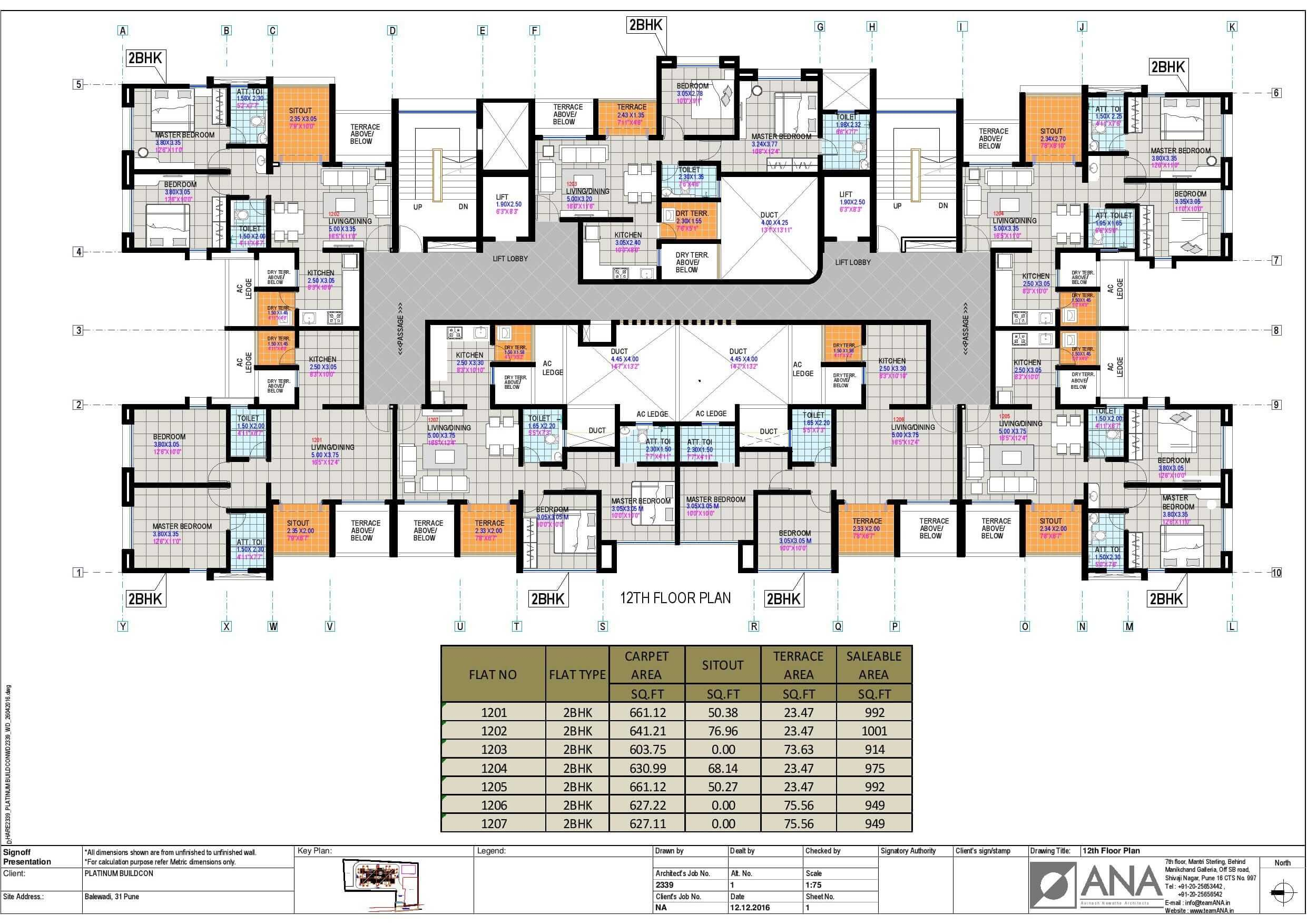 Atlantis Twelve Floor Layout